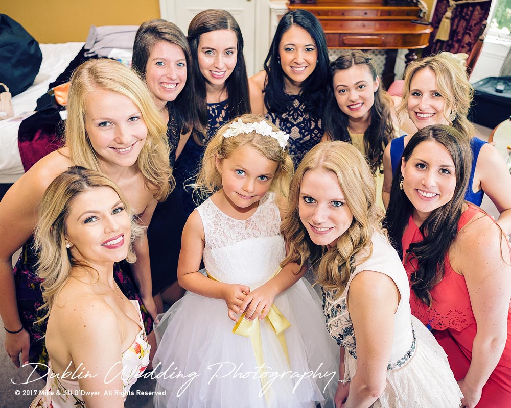 Ariel's Girlfriends with the Flowergirl at Killashee Wedding