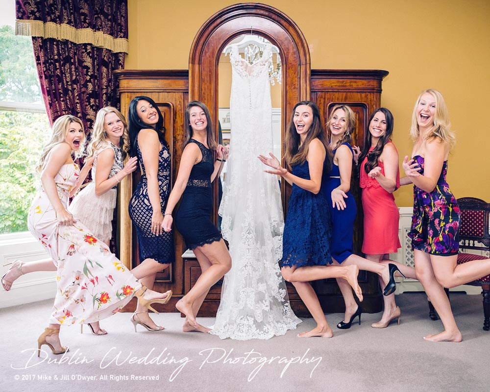 Ariel's Wedding Dress at Killashee Hotel with her Girlfriends