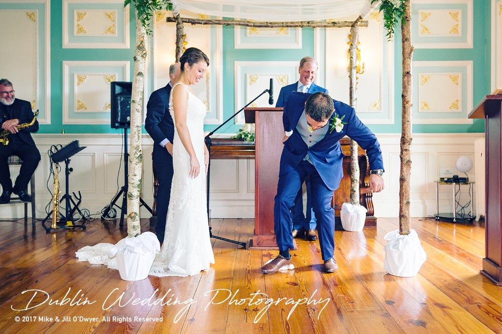 Wedding Photographer Killashee Hotel Bride & Groom Stamping On Glass