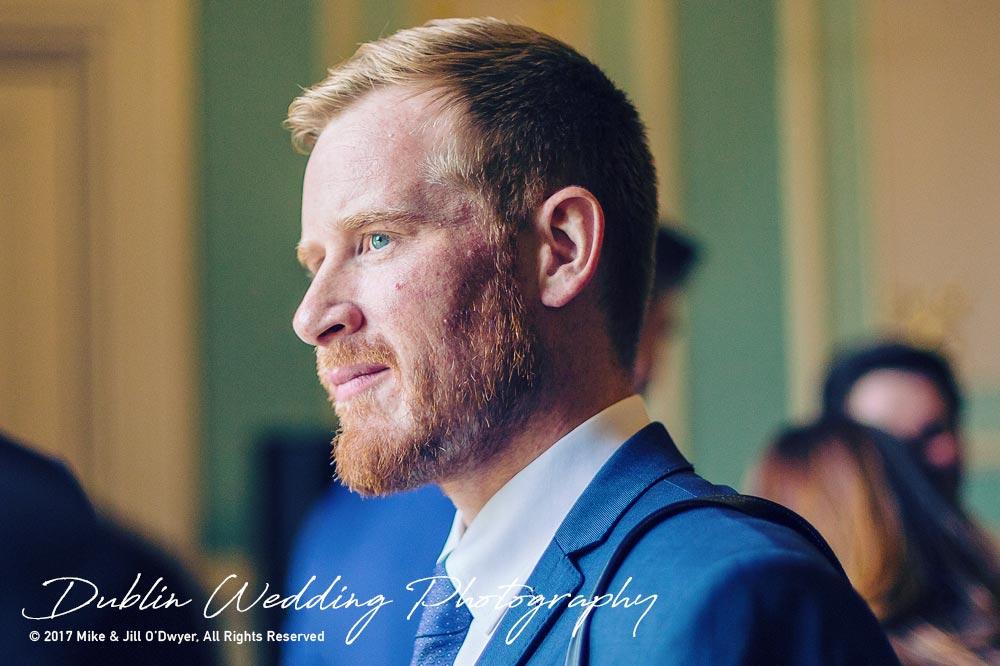 Wedding Photographer Killashee Hotel Bearded Guest at Reception