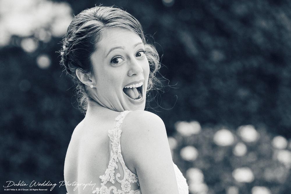 Wedding Photographers Kildare Killashee Hotel Laughing Bride