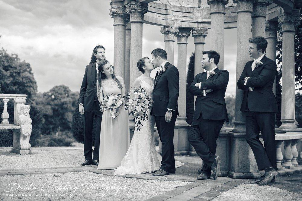 Wedding Photographers Kildare Killashee House Hotel Groom & Groomsmen and Bridesmaid
