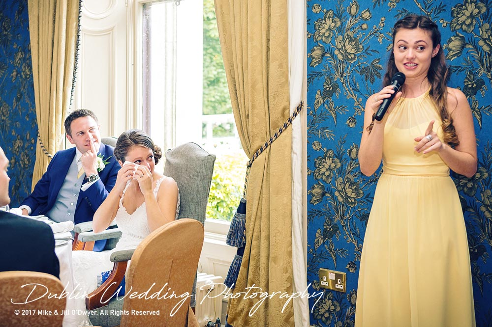 Wedding Photographers Kildare Killashee House Hotel Sister's Speech