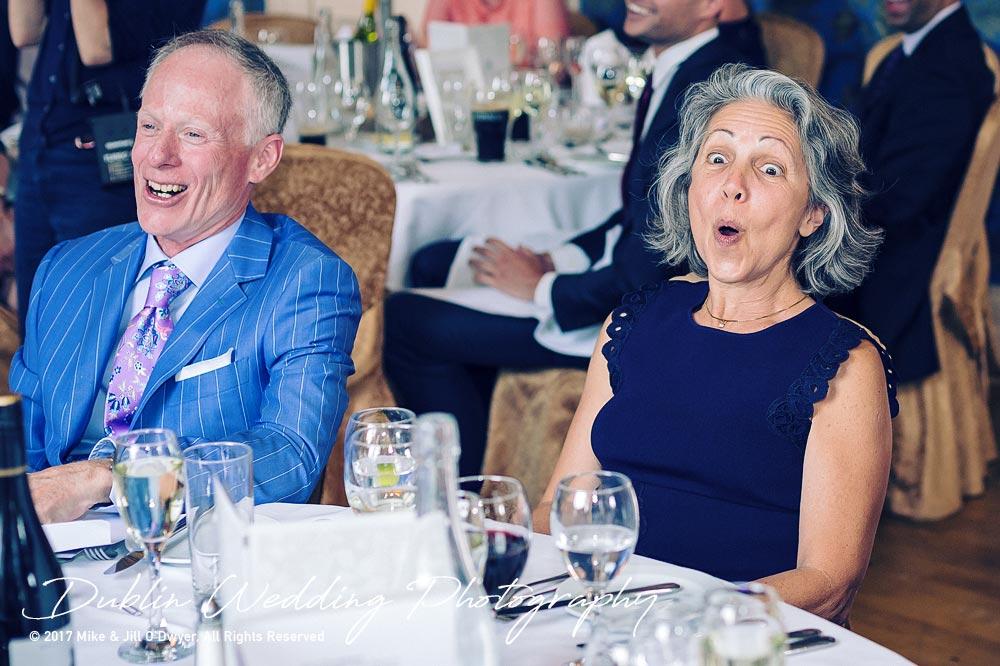 Wedding Photographer Killashee Hotel Speeches Parents Laughter
