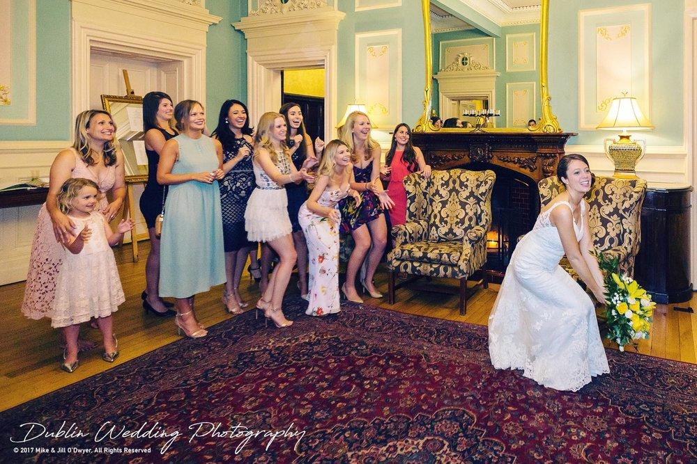 Killashee Hotel Wedding Photographers Kildare Throwing The Bouquet