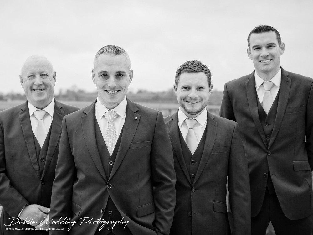 Castle Durrow Wedding Photographer Groom & Groomsmen