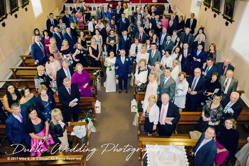 Castle Durrow Wedding Photographer County Wicklow Church Congregation