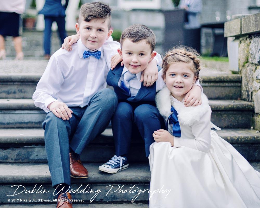 Castle Durrow Wedding Photographer County laois Kids At Wedding