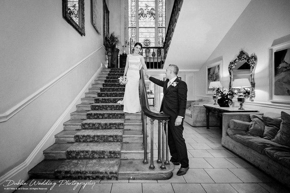 Castle Durrow Wedding Photographer County Laois Staircase