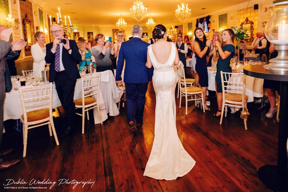 Castle Durrow Wedding Photographer County Laois Wedding Entrance Bride & Groom