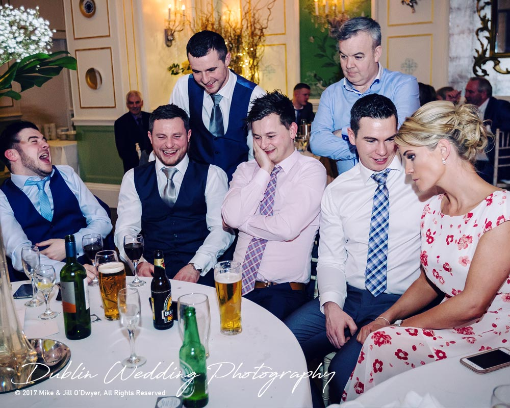 Castle Durrow Wedding Photographer County Laois Watching Rugby