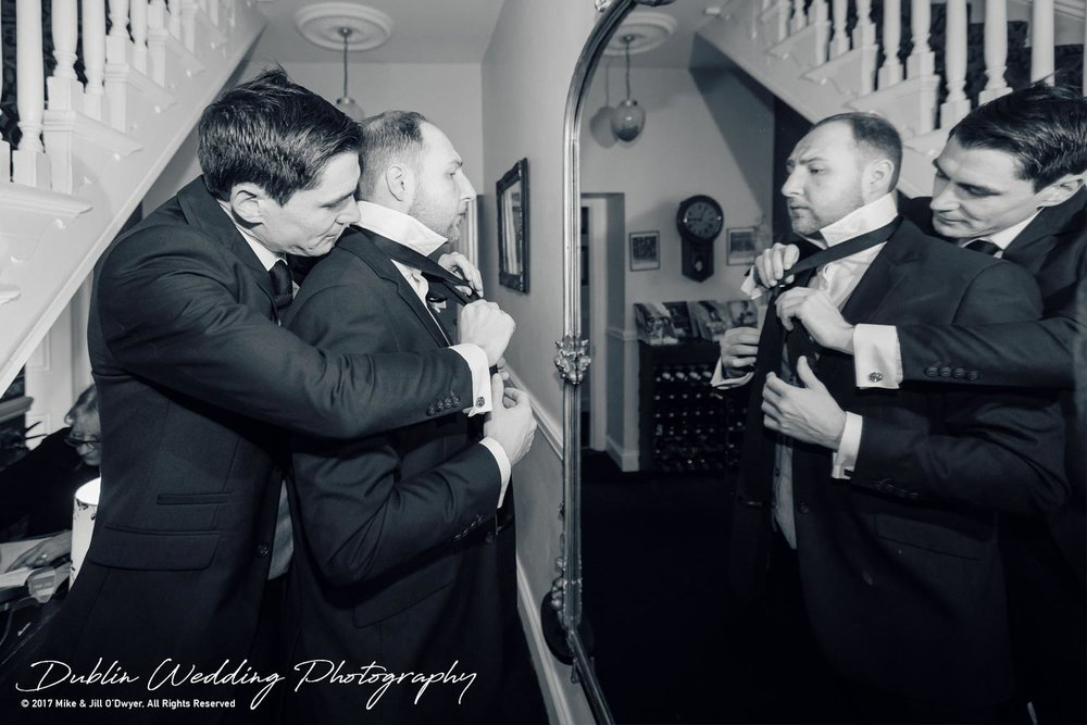 Tinakilly House Wedding Photographer: Groomsmen & ties