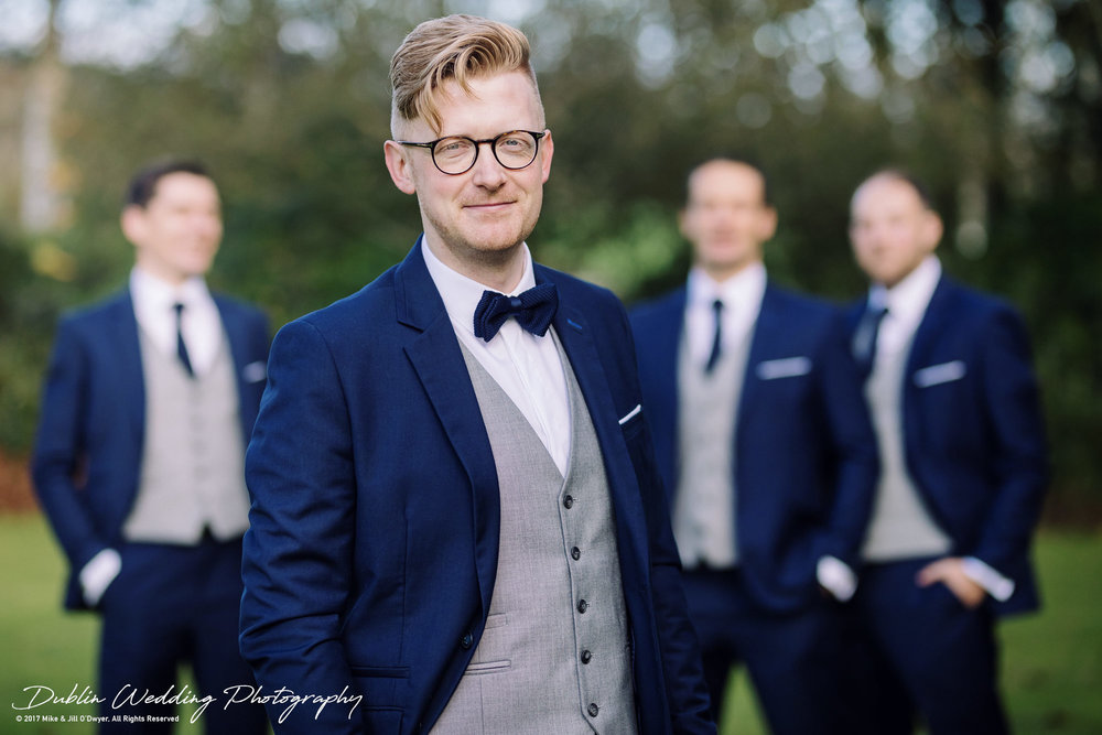 Tinakilly House Wedding Photographer: Groom and Groomsmen