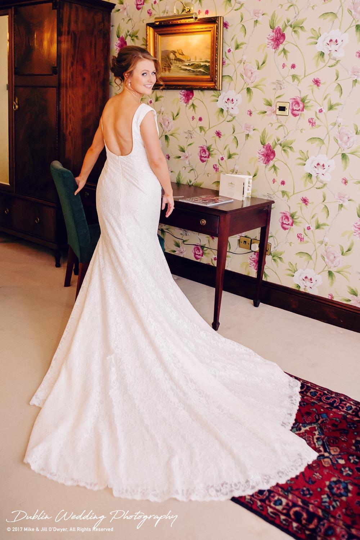 Tinakilly House Wedding Photographer: Bride & Wedding Dress