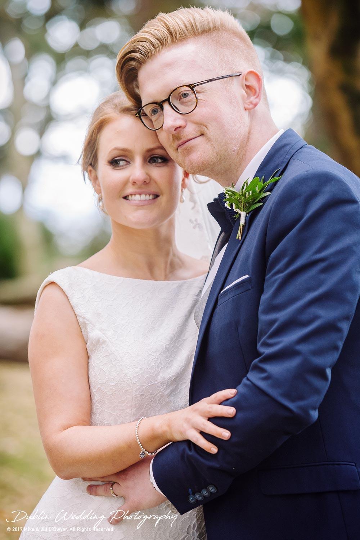 Tinakilly House Wedding Photographer: Bride & Groom heads touching