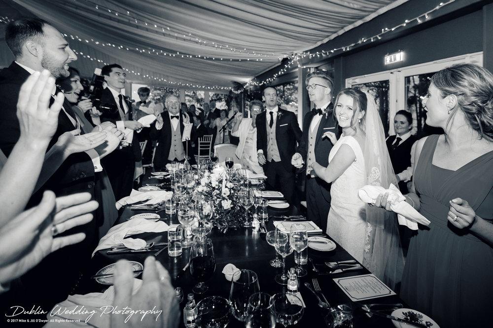 Tinakilly House Wedding Photographer: Bride and Groom Reception