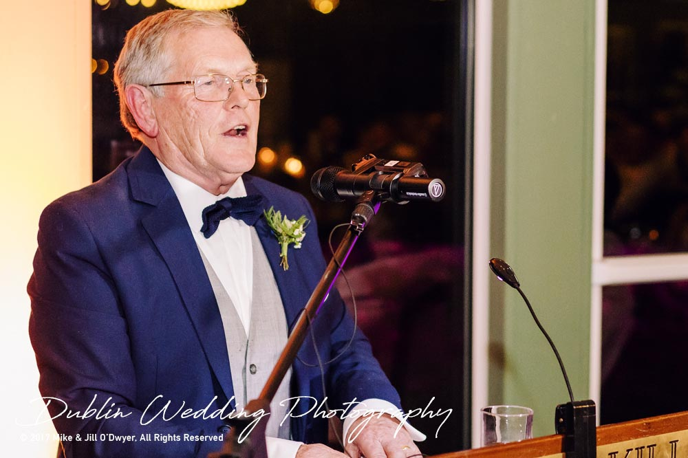 Tinakilly House Wedding Photographer: Father of The Bride Speech