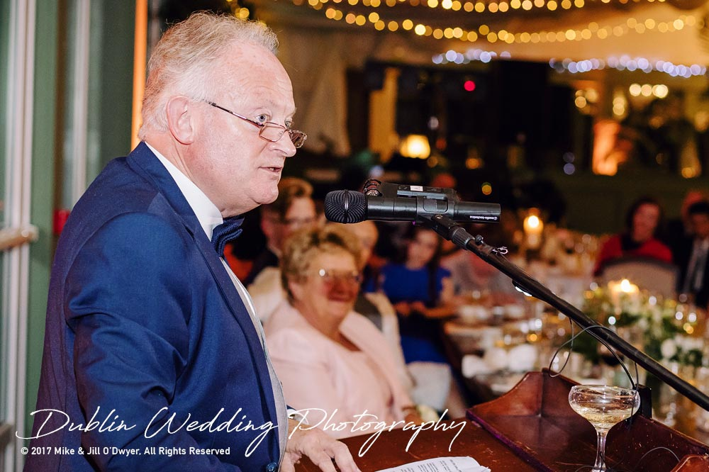 Tinakilly House Wedding Photographer: Father of The Groom Speech