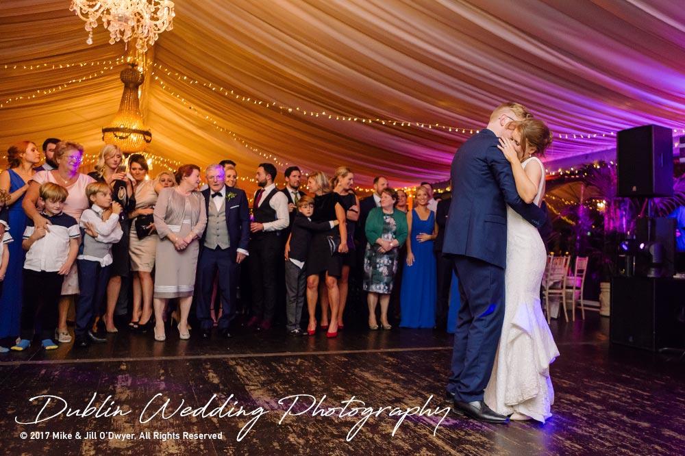 Tinakilly House Wedding Photographer: First Dance Bride & Groom