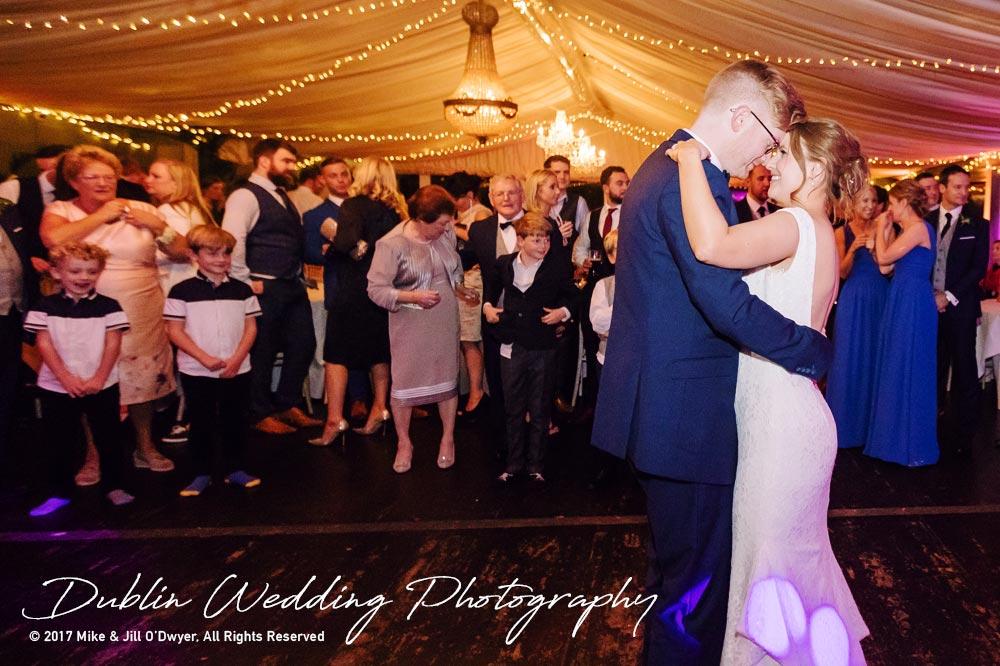 Tinakilly House Wedding Photographer: First Dance Bride & Groom part 3