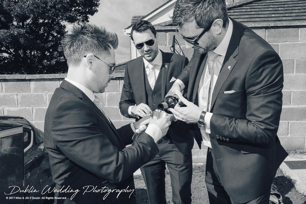 Moyvalley, Balyna House, Wedding Photographer, Kildare, Dublin, Groomsmen & Whiskey