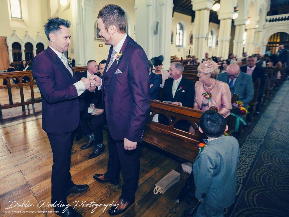 Moyvalley, Balyna House, Wedding Photographer, Kildare, Dublin, Fist Bump