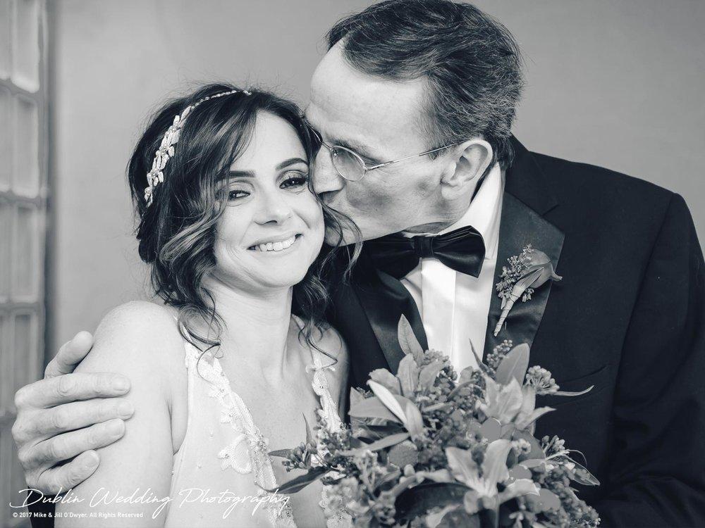 Moyvalley, Balyna House, Wedding Photographer, Kildare, Dublin, Bride & father