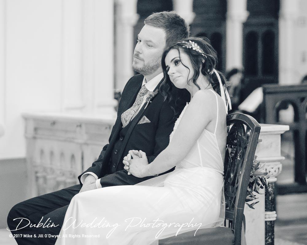 Moyvalley, Balyna House, Wedding Photographer, Kildare, Dublin, Groom Bride in Church