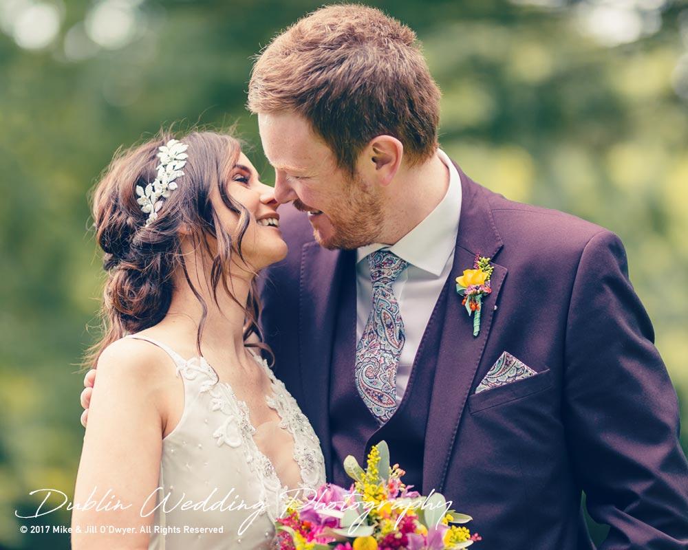 Moyvalley, Balyna House, Wedding Photographer, Kildare, Dublin, Beautiful Bride & Handsome Groom Kiss