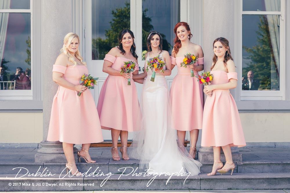 Moyvalley, Balyna House, Wedding Photographer, Kildare, Dublin, Bride & Bridesmaids