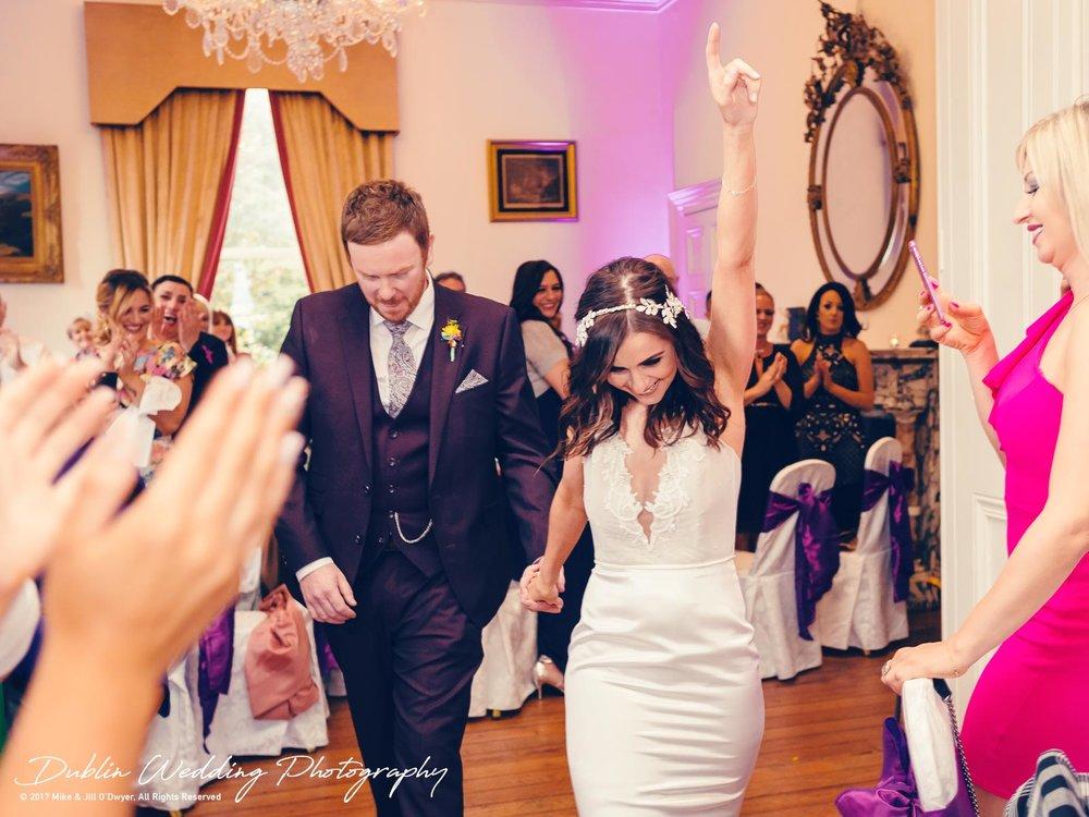 Moyvalley, Balyna House, Wedding Photographer, Kildare, Dublin, Bride & Groom Reception Entrance