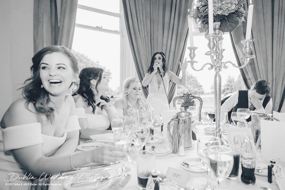 Moyvalley, Balyna House, Wedding Photographer, Kildare, Dublin, Bride's Speech