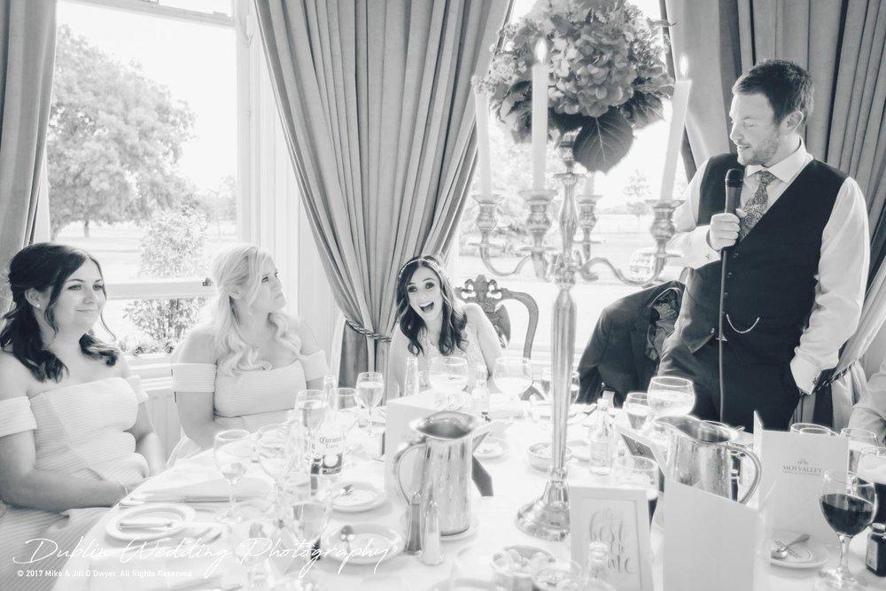 Moyvalley, Balyna House, Wedding Photographer, Kildare, Dublin, Groom's Speech