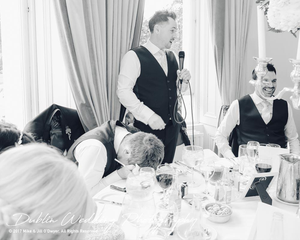 Moyvalley, Balyna House, Wedding Photographer, Kildare, Dublin, Best Man's Speech