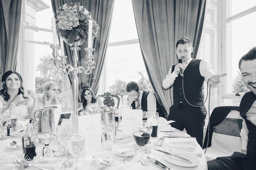 Moyvalley, Balyna House, Wedding Photographer, Kildare, Dublin, Best Man's Reactions