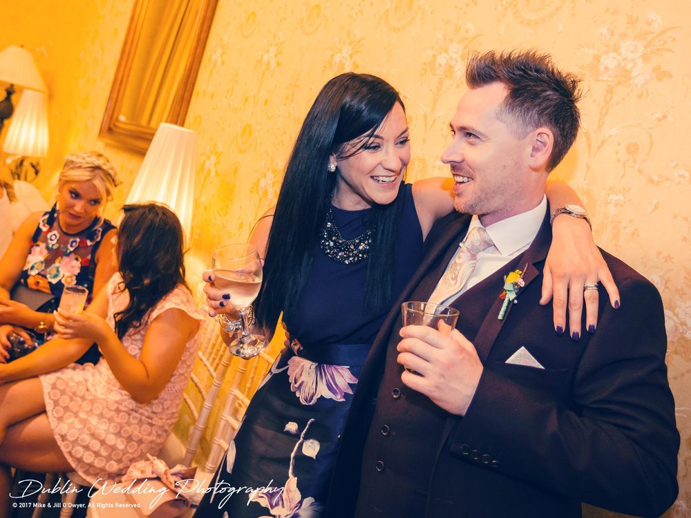 Moyvalley, Balyna House, Wedding Photographer, Kildare, Dublin, Chilling With Guests