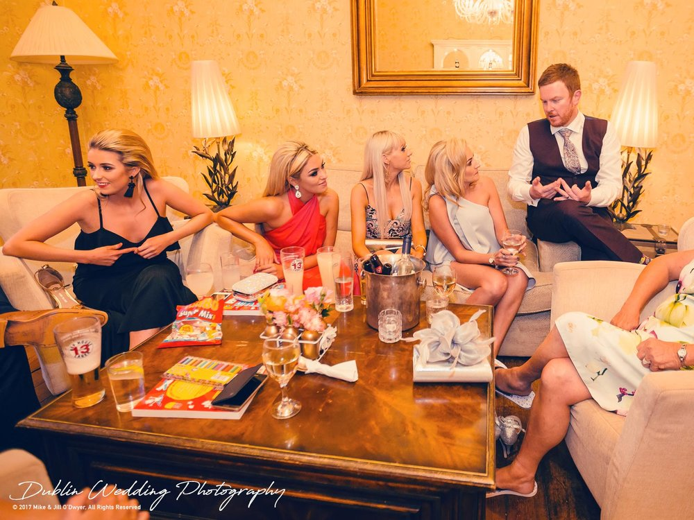 Moyvalley, Balyna House, Wedding Photographer, Kildare, Dublin, Guests Chilling
