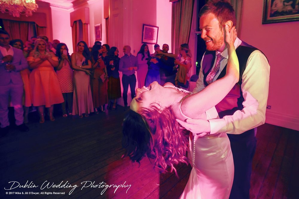 Moyvalley, Balyna House, Wedding Photographer, Kildare, Dublin, First Dance Bride and Groom