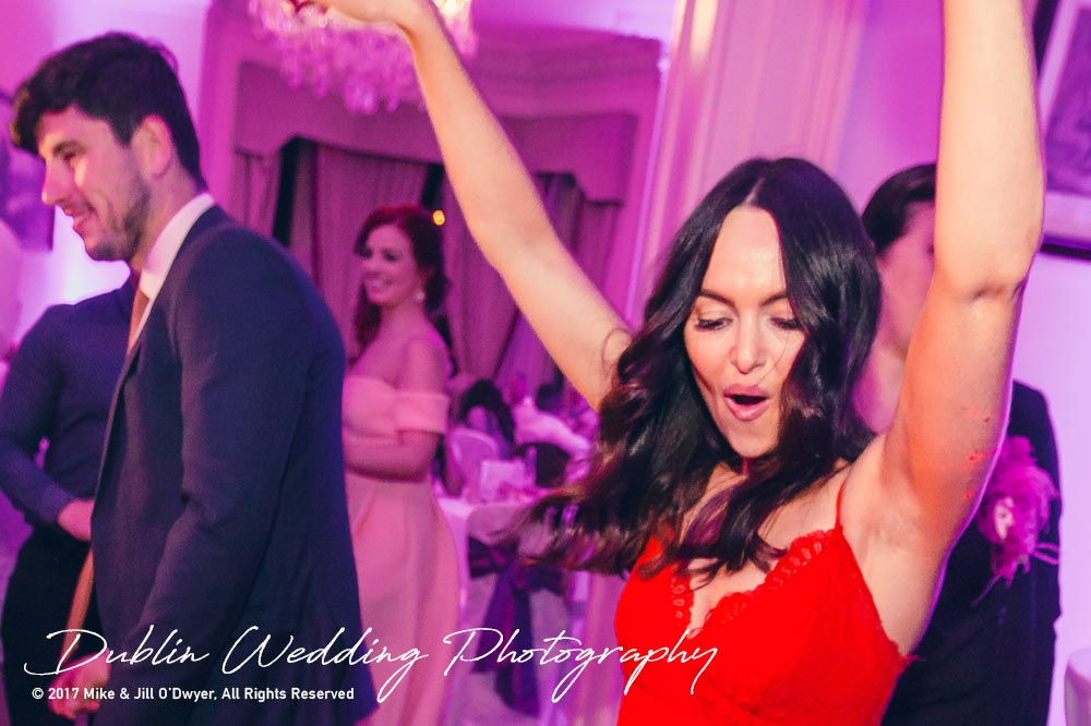 Moyvalley, Balyna House, Wedding Photographer, Kildare, Dublin, First Dancer Red Dress