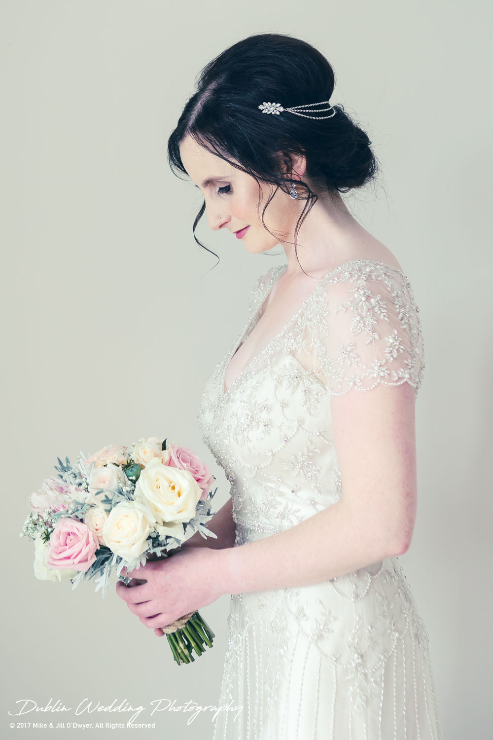 Bellingham Castle, Wedding Photographer, Louth, Dublin, Bride Profile looking beautiful