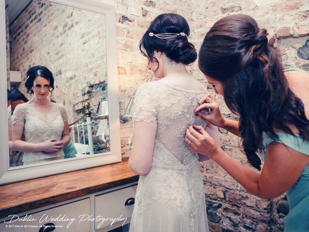Bellingham Castle, Wedding Photographer, Louth, Dublin, Bride & Bridesmaid