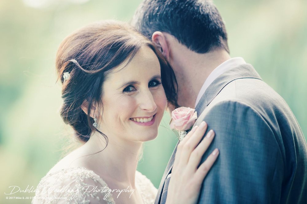 Bellingham Castle, Wedding Photographer, Louth, Dublin, Bride Smiling with Groom