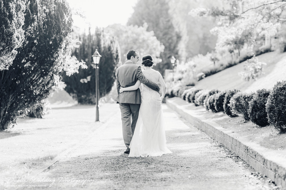 Bellingham Castle, Wedding Photographer, Louth, Dublin, Bride & Groom Walking to Castle reception