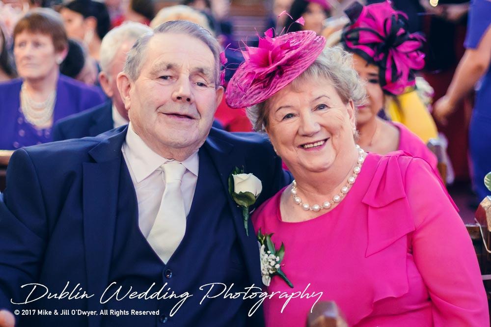 K Club, Kildare, Wedding Photographer, Dublin, Groom's parents in church