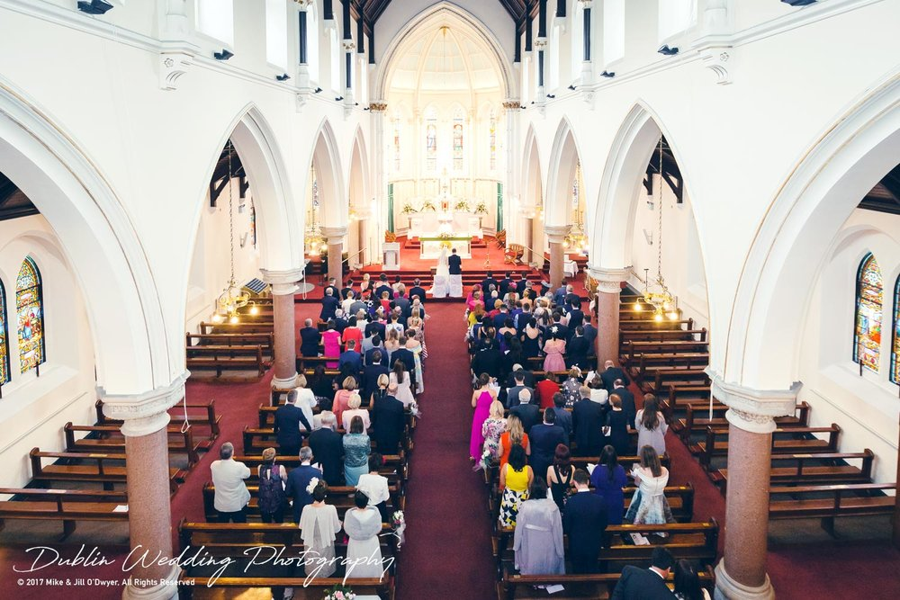 K Club, Kildare, Wedding Photographer, Dublin, View from the back of the church down onto the congregation