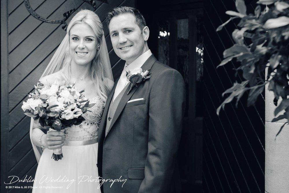 K Club, Kildare, Wedding Photographer, Dublin, Bride and Groom at the entrance to the church