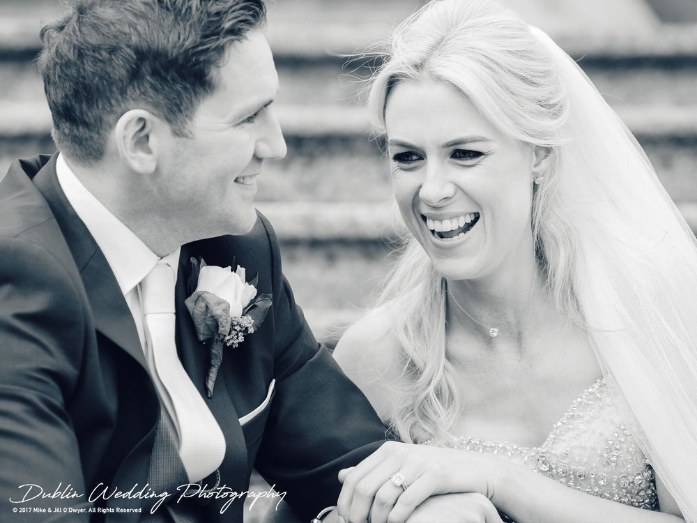 K Club, Kildare, Wedding Photographer, Dublin, the Bride and Groom laughing together