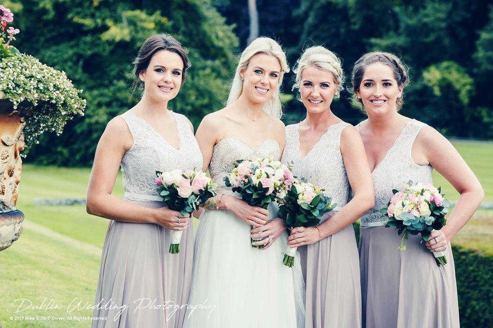 K Club, Kildare, Wedding Photographer, Dublin, The Bride and Bridesmaids in the gardens