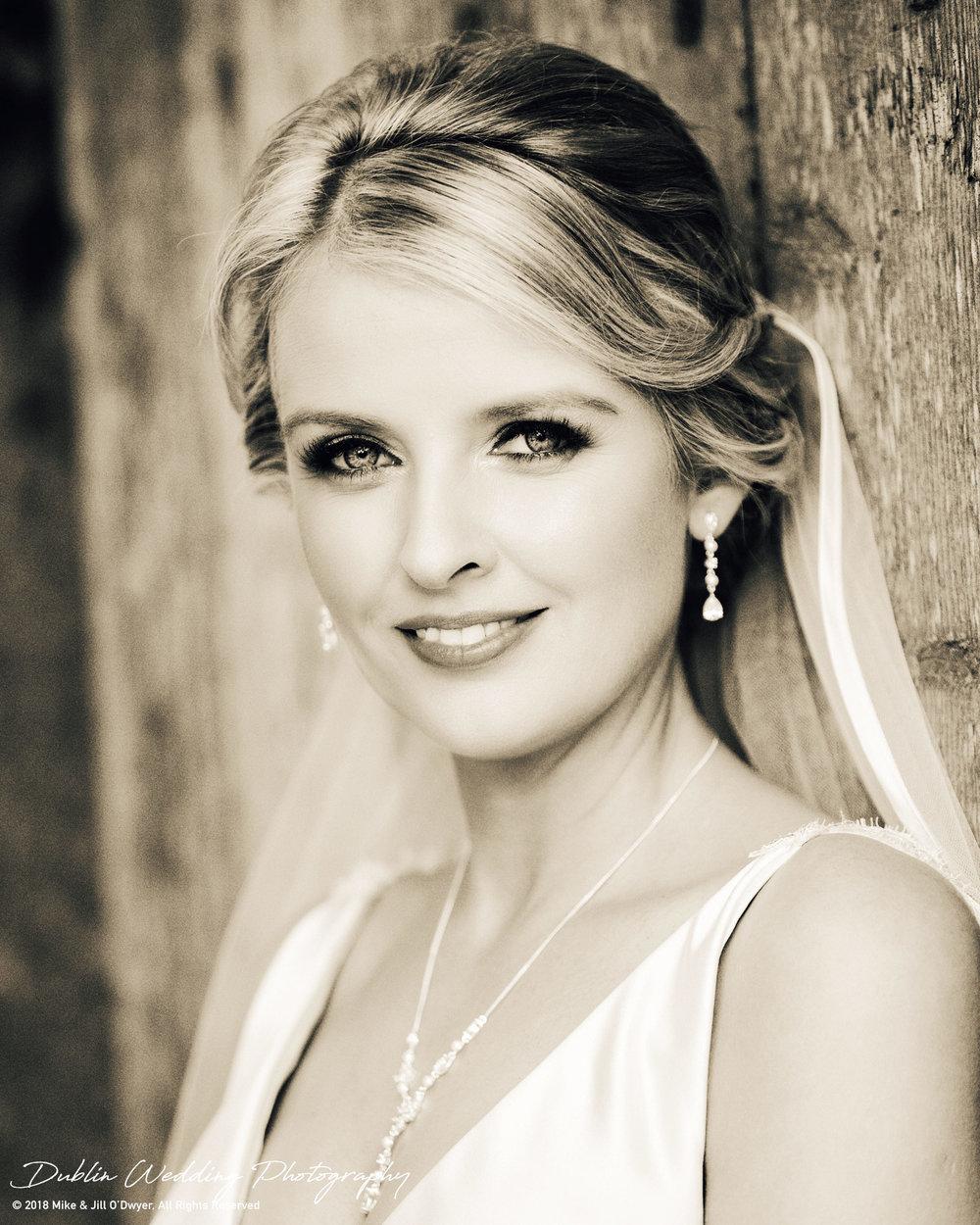 Wedding Bride Straight Black and White Sepia