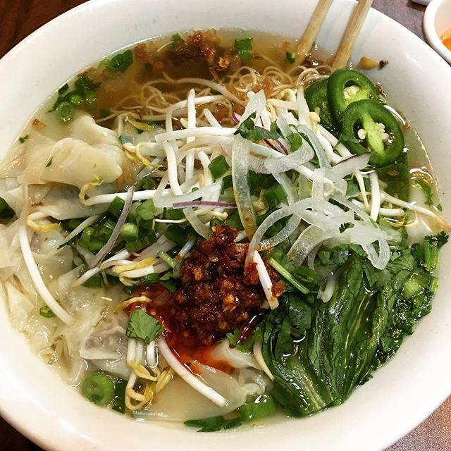 I lied. It's not #pho weather. It's #wonton #weather. #hangoutasiangrill #vietnamese #food #katytx #restaurant #houston #delicious